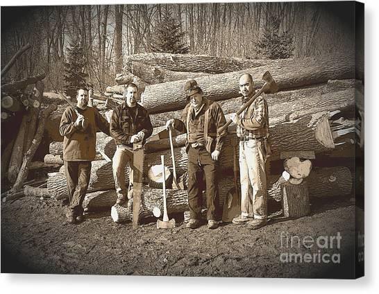 Lumberjacks Canvas Print by Robert Kleppin