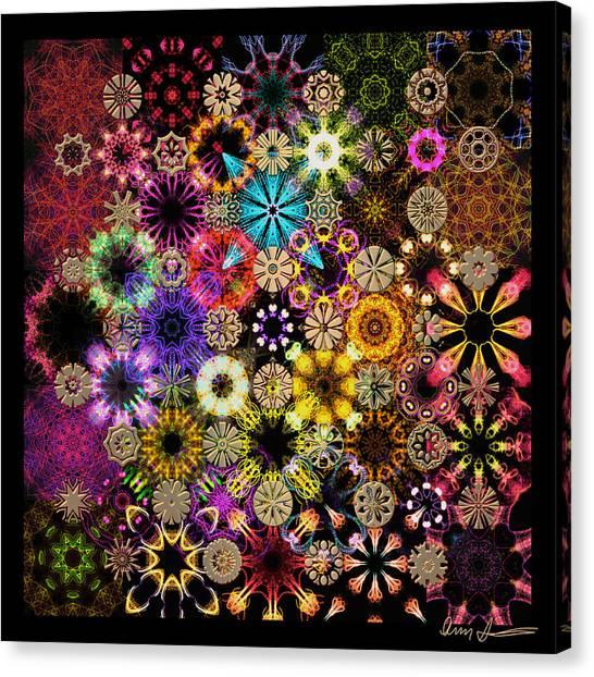 Luminiscent Kaleidoctogarden Canvas Print