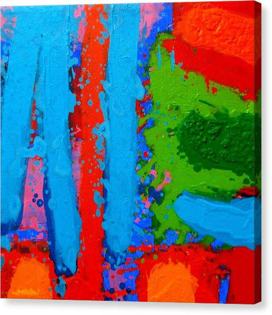 Luminous Blues Canvas Print by John  Nolan