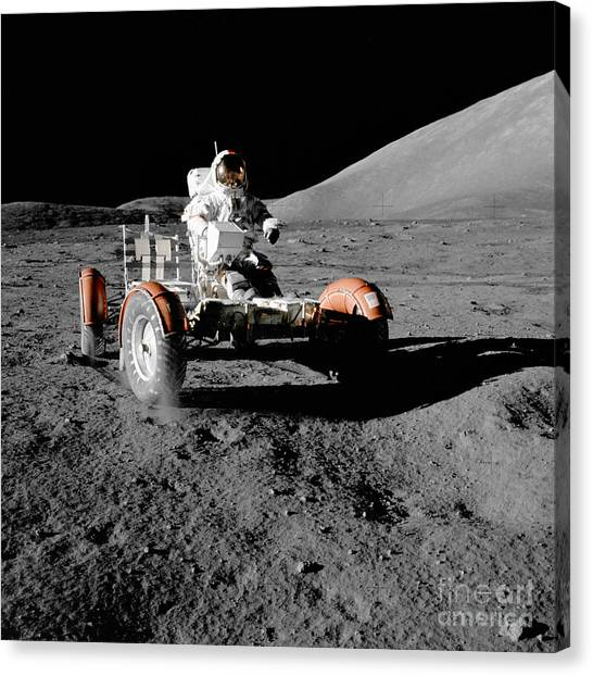 Satellite Canvas Print - Lunar Ride by Jon Neidert