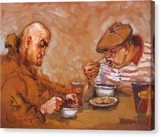 Tim Canvas Print - Lunchtime At Tim  by Ylli Haruni