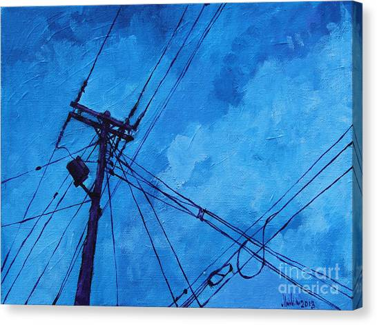 Lunchtime Telephone Pole Canvas Print