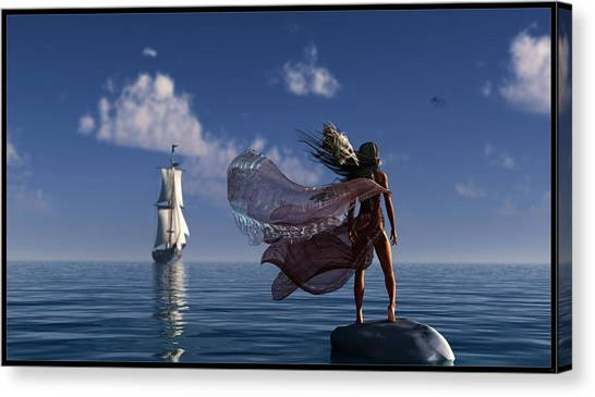 Lure Of The Siren... Canvas Print