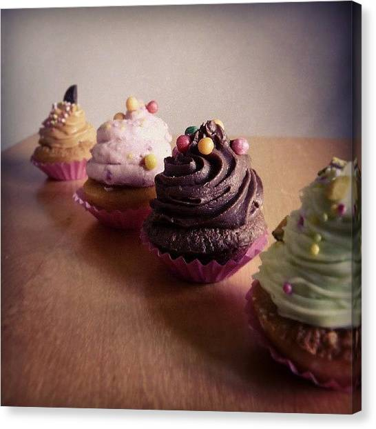 Tea Canvas Print - Luscious Cupcakes by Barbara Orenya