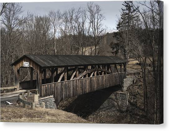 Luther's Mill Covered Bridge Canvas Print