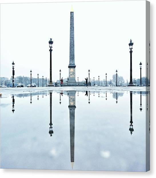 Luxor Obelisk On The Place De La Canvas Print by Gerard Trang / Eyeem