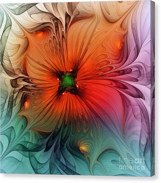 Luxury Blossom Dressed In Velvet And Silk Canvas Print