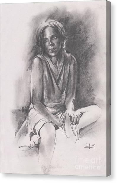 Lydia Sketch Canvas Print