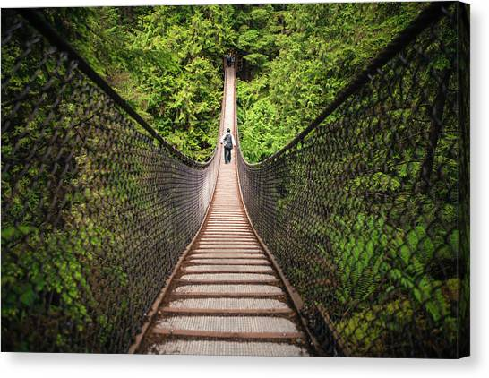 Lynn Valley Canvas Print - Lynn Canyon Suspension Bridge by Christopher Kimmel & Lynn Valley Canvas Prints | Fine Art America