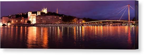 Lyon At Dusk Canvas Print