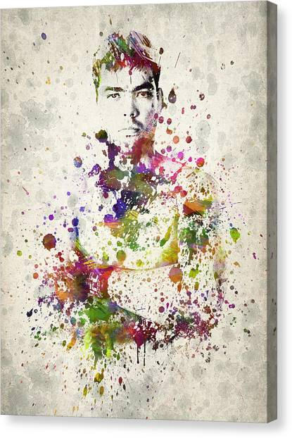 Karate Canvas Print - Lyoto Machida by Aged Pixel