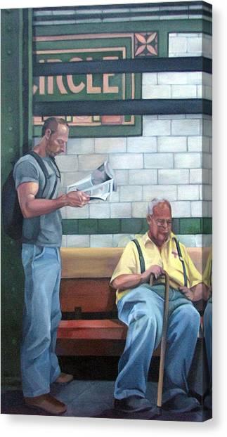 Lyrical Journey No 2 Canvas Print by Julie Orsini Shakher