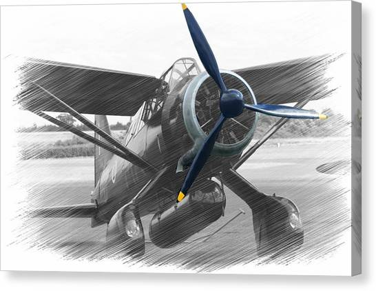 Lysander In Readiness Canvas Print by Donald Turner