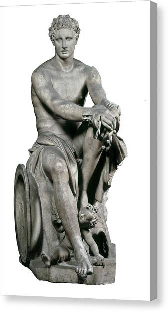 Hellenistic Art Canvas Print - Lysippus C. 370-318 Bc. Ares Ludovisi by Everett