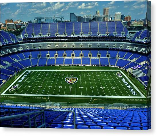 Gridiron Canvas Print - M And T Bank Stadium by Robert Geary