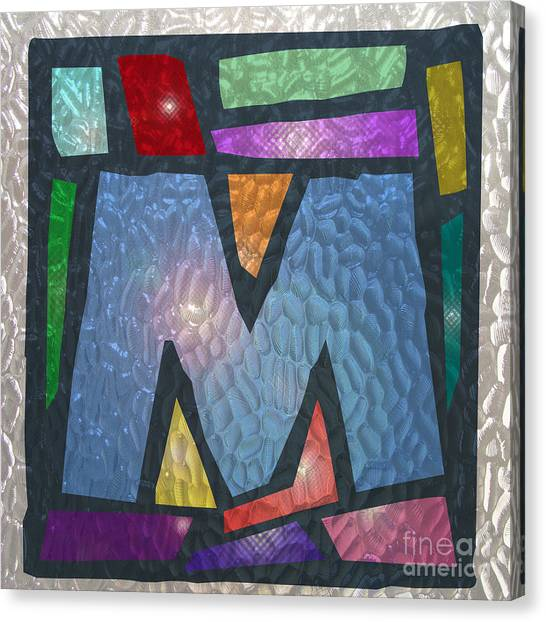 M As Stained Glass Canvas Print