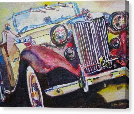 M G Car  Canvas Print