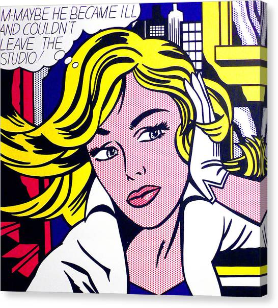 Andy Warhol Canvas Print - M-maybe - Roy Lichtenstein  by Doc Braham - In Tribute to Roy Lichtenstein