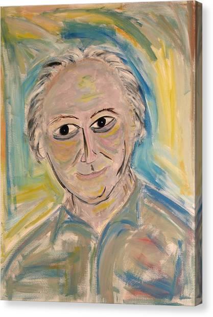 M. Portrait  Canvas Print by Maggis Art