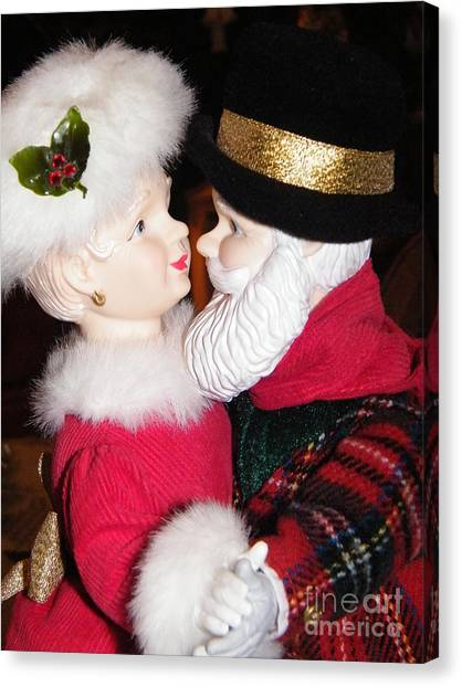 Ma And Pa Claus Canvas Print