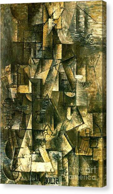 Cubism Canvas Print - Ma Jolie by Pg Reproductions