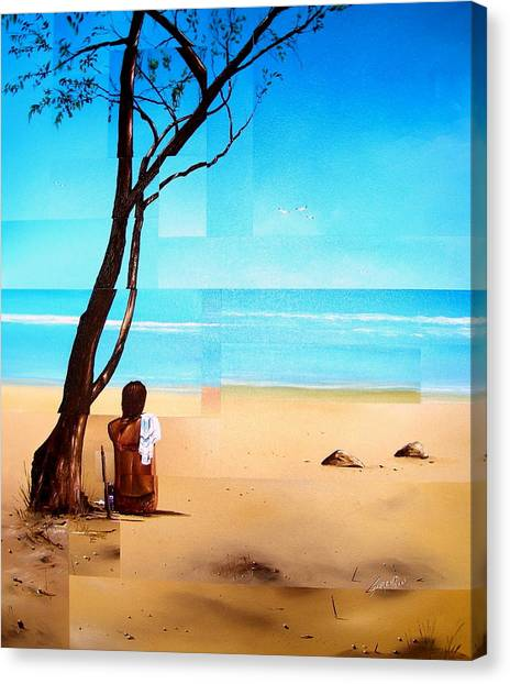 Ma Plage Privee Canvas Print by Laurend Doumba