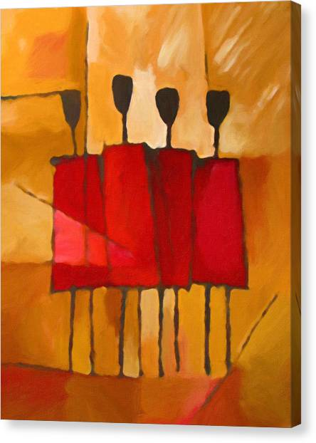 Maasai Group Canvas Print
