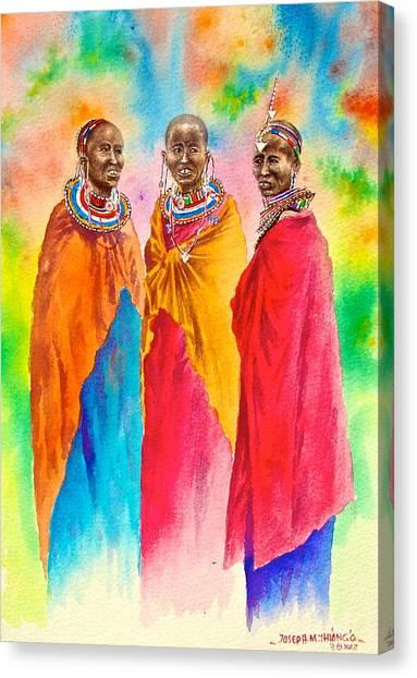 Maasai Life 14 Canvas Print