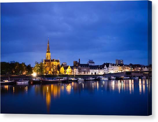 Maas Canvas Print - Maastricht Sint-martinuskerk And Maas River by Marc Garrido