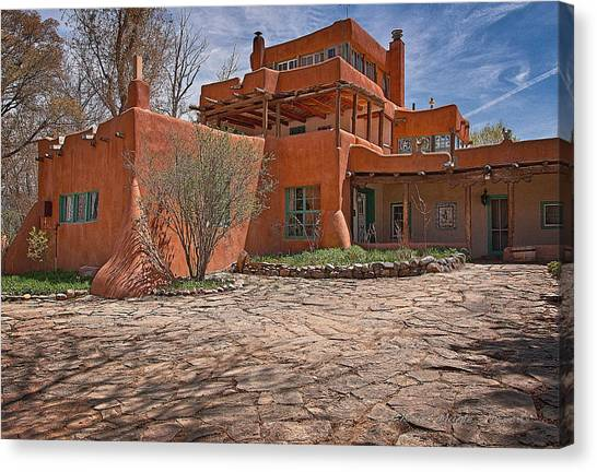 Dennis Hopper Canvas Print - Mabel Dodge Luhan House  by Charles Muhle