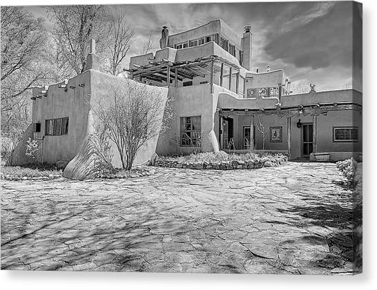 Dennis Hopper Canvas Print - Mabel Dodge Luhan House In B-w by Charles Muhle