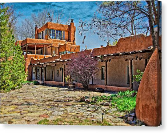 Dennis Hopper Canvas Print - Mabel Dodge Luhan's Courtyard by Charles Muhle