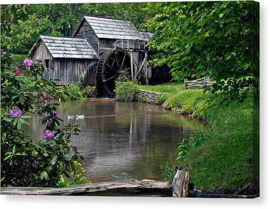 Mabry Mill In May Canvas Print