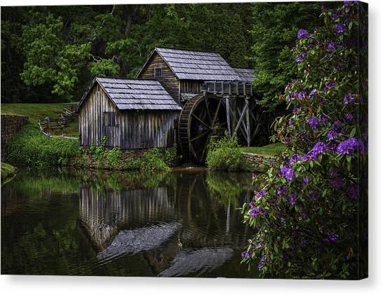 Mabry Mill In Spring Canvas Print