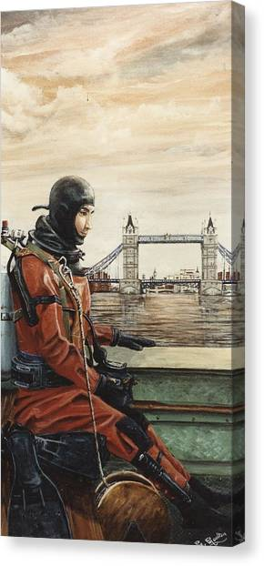 Metropolitan Division Canvas Print - Mac The Standby Diver by Mackenzie Moulton