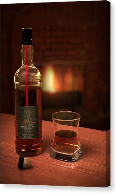 Glass Art Canvas Print - Macallan 1973 by Adam Romanowicz