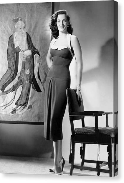Films By Nicholas Ray Canvas Print - Macao, Jane Russell, In A Dress by Everett