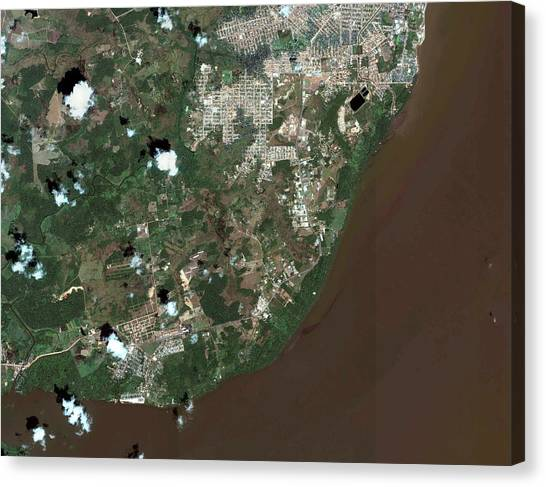 Amazon River Canvas Print - Macapa by Geoeye/science Photo Library