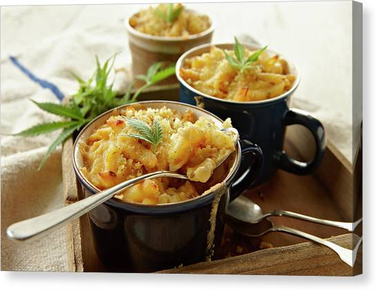 Macaroni And Cheese Infused With Canvas Print by Lew Robertson