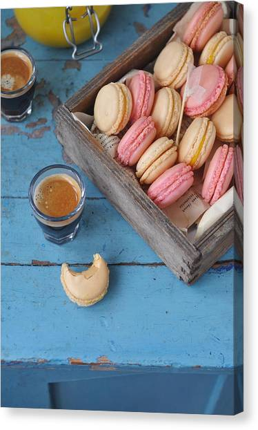 Macarons Canvas Print by Photos By Irina Meliukh