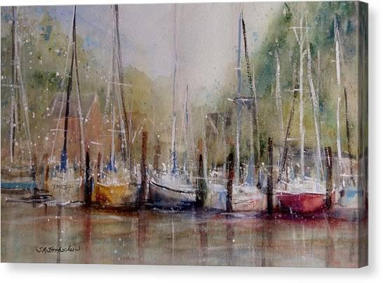 Macatawa Morning Canvas Print