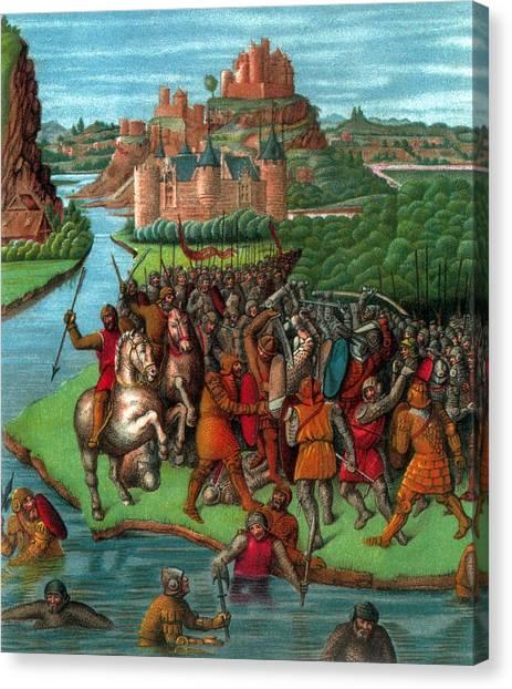 River Jordan Canvas Print - Maccabean Revolt, 2nd Century Bc by Science Source