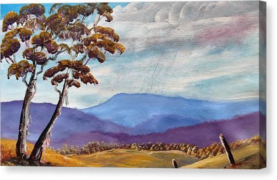 Macedon Blue Canvas Print by David Belcastro