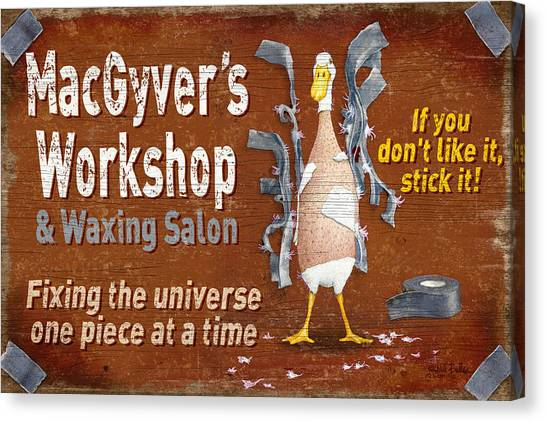 Caves Canvas Print - Macgyvers Workshop by JQ Licensing