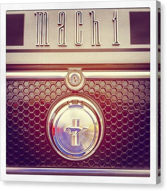 Ford Canvas Print - Mach 1 by Mike Maher