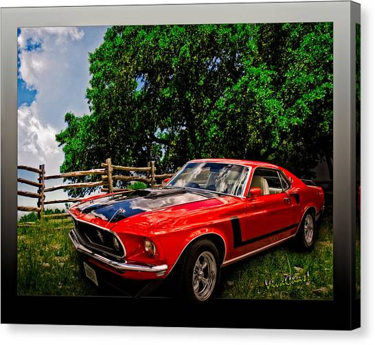 1969 Ford Mach 1 Mustang Canvas Print