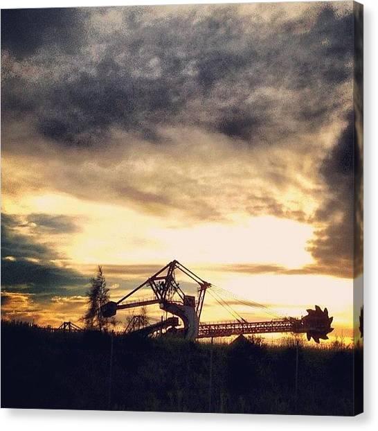 Machinery Canvas Print - Machinery Sunrise  #iphoneonly by Adam Davies