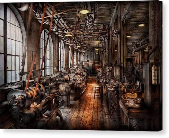 Tools Canvas Print - Machinist - A Fully Functioning Machine Shop  by Mike Savad