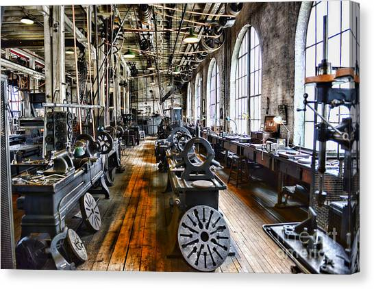 Ward Canvas Print - Machinist - Precision Matters by Paul Ward