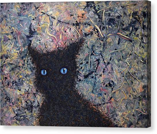 Siamese Canvas Print - Machka Memory by James W Johnson